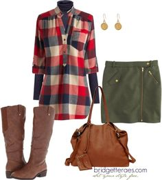 plaid, navy blue and olive green