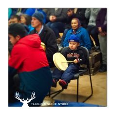 How adorable small child #drumming with the rest of them. #Behchoko #Tlicho