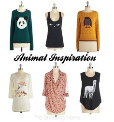 Especially love the cat tank!  Animal-Inspired Apparel From ModCloth   The Shopping Mama