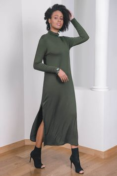 TGB EcoFashion Shop Maxi Bamboo Dress here: http://the-great-beyond.com/product/callisto-dress-olive/ Free Shipping WorldWide Bamboo Clothing - #ecofashion Callisto Bamboo Maxi Dress Olive. Elegant maxi dress made from luxurious bamboo fabric. A sustainable winter favourite perfect for any occasion.