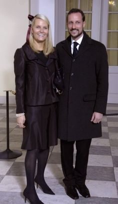 Crown Princess Mette-Marit and Crown Princess Haakon of Norway; christening of Prince Christian of Denmark in the Royal Chapel, Christiansborg on January 21, 2006