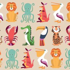 5 Sheets Of Colourful Creatures Wrap | DotComGiftShop