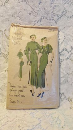 1930s Vogue S-3608 | One-piece frock and overblouse