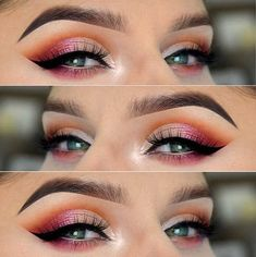 Hottest Eye Makeup Trends for 2018 - Sunset Cutcrease - It's Time To Check Out What Eyeliner And Make Up Products Are Going To Be Trending For 2018. We Cover Eyeshadows For Different Size Eyes And Faces And Eyeliner That Will Make Those Brown Or Blue Eyes Pop. Pair These Hot Eye Makeup Trends With Dark Lips Using Sexy Lipsticks And The Right Brows And You Are Going To Be Looking Fabulous For 2018. Try The Winged Liner or the Cut Crease Or Keep It Simple And Natural. 2018 Is Yours -