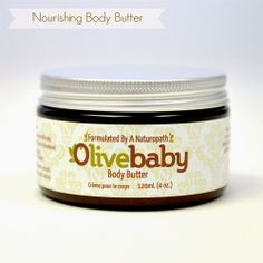 OliveBaby.ca Body Butter, Coffee Cans, Coconut Oil, Jar, Pure Products, Canning, Food, The Body, Essen