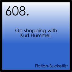 fictional bucket list, this would make my life. kurt hummel <3 glee