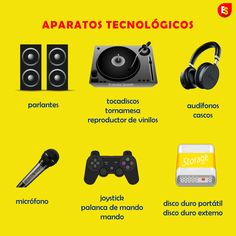 How to say names of technical appliances in Spanish such as flat screen, console, laptop, camera, videocamera, and VR headset.