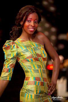 kente print dress