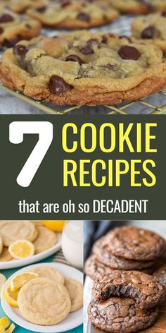 These easy cookie recipes are perfect for a quick dessert. My favorites are the Brown Butter Chocolate Chip Cookies, Brownie Cookies & Blueberry Cookies. What are yours? #ecstatichappiness Healthy Cookie Recipes, Healthy Cookies, Sweets Recipes, Healthy Baking, Blueberry Cookies, Lemon Cookies, Lemon Desserts, Lemon Recipes, Brownie Cookies