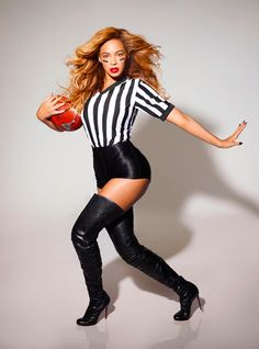 Ha - cute picture,Beyonce - Super Bowl Sunday coming up....