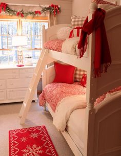 Girl's bedroom for Christmas...gorgeous! and perfect with one of our Christmas lampshades! #ereki #xmas