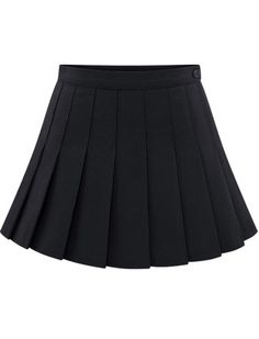 Shop Black Buttons Pleated Skirt online. SheIn offers Black Buttons Pleated Skirt & more to fit your fashionable needs.