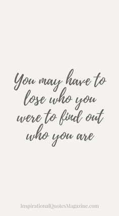 Mindful! Sometimes we have to lose ourselves to find the REAL us!