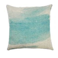Bonnie and Neil - splash floor cushion in turquoise