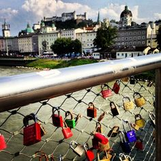 Love Bridge - Couples come to Salzburg to put a padlock on the bridge and throw the key into the Salzach River, symbolizing a long and happy relationship.