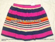 a5858bd598 Nwt Gymboree girls 5 5T Fashionable Fox blue Yellow Pink striped skirt skort  new #Gymboree