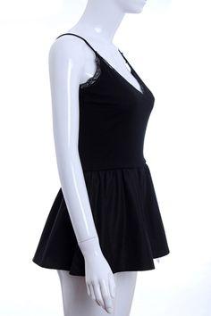 #Romwe Black Tank Dress