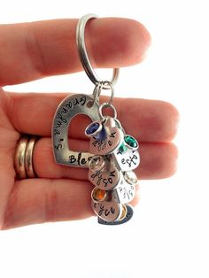 Hey, I found this really awesome Etsy listing at https://www.etsy.com/listing/216974650/grandma-keychain-grandma-necklace-mommy