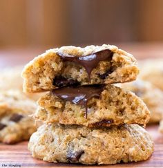 Quinoa Coconut Chocolate Chunk Cookies are made with healthy ingredients like Greek yogurt, quinoa, and whole wheat flour.