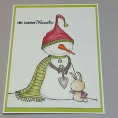Weihnachtskarte mit purpleoniondesigns Stempel
