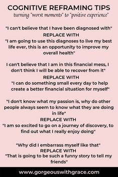 Easy tips to instantly feel better. Use Cognitive Reframing to change from a neg… Easy tips to instantly feel better. Use Cognitive Reframing to change from a negative to a positive. Easy Self Development skills to learn. Cognitive Distortions, Cognitive Behavioral Therapy, Positive Phrases, Positive Affirmations, Coaching, Mental And Emotional Health, Skills To Learn, Cbt, Positive Mindset