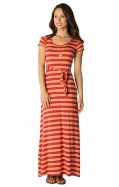 Love it! A modest maxi dress--no need for a t-shirt or cover!!  Marina Maxi Modest Dress in Deep Claret