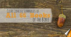 Clear Concise Summaries of All 66 books of the Bible
