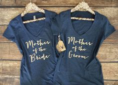 Mother of the Bride Shirt - Mother of the Groom Shirt - Vneck Shirt - Bridesmaid Shirts - Bride Shirt Bachelorette Party Shirts - Bride Gift by GNARLYGRAIL on Etsy https://www.etsy.com/listing/385238016/mother-of-the-bride-shirt-mother-of-the