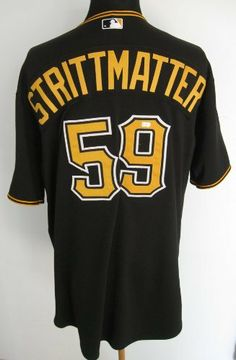 c8c237847597 2011 Pittsburgh Pirates Mark Strittmatter  59 Game Used Black Home Jersey .   132.99. 2011