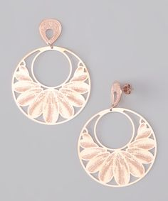 Take a look at this Rose Gold Leaf Earrings by Treasure Hunt: Rose Gold Jewelry on #zulily today!