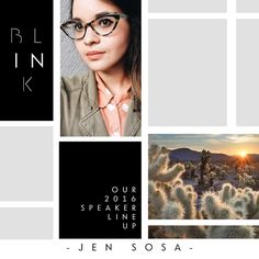"""""""BLINK Conference could not be anymore excited to introduce Jen Sosa as part of the speaking team at #blinkconf16  Jen is crazy stupid talented and a…"""""""