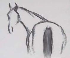 Easy Horse Drawing, Easy Animal Drawings, Horse Drawings, Animal Sketches, Pencil Art Drawings, Cool Art Drawings, Art Drawings Sketches, Horse Sketch, Hippie Art