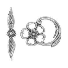 19x14mm Antique Pewter Flower Toggle Clasp | Fusion Beads #mothersday