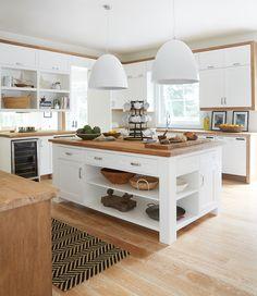 Une cuisine traditionnelle modernisée