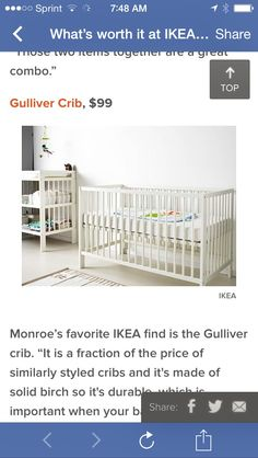 Crib from ikea