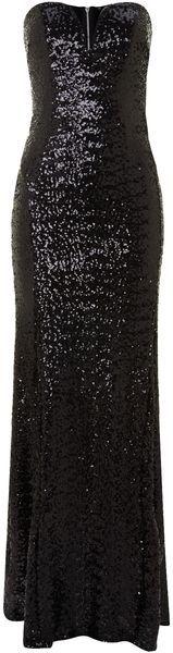 Tfnc Black Sequin Maxi Dress