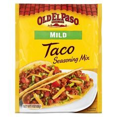 Old El Paso Taco Seasoning Mix Mild 1oz In 2021 Taco Mix Seasoning Homemade Spices Seasoning Recipes