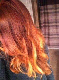auburn red ombre hair color