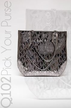 Michael Kors - Jet Set Chain Tote in Mirror Metallic.   Go to wkrq.com to find out how to play Q102's Pick Your Purse!