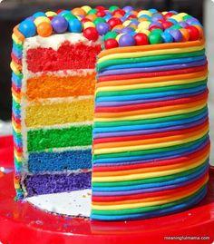 τούρτα γενεθλίων ουράνιο τόξο 5