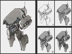 anti-infantry robot by *ProgV on deviantART ★    CHARACTER DESIGN REFERENCES (www.facebook.com/CharacterDesignReferences & pinterest.com/characterdesigh) • Love Character Design? Join the Character Design Challenge (link→ www.facebook.com/groups/CharacterDesignChallenge) Share your unique vision of a theme every month, promote your art and make new friends in a community of over 20.000 artists!    ★