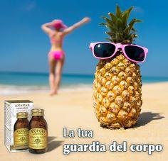 """ANANAS COMPOSITUM - Dr. Giorgini. Integratore naturale contenente estratti di gambi d'ananas, utili per contrastare gli inestetimsi della cellulite e favorire il drenaggio dei liquidi corporei (contro la ritrenzione idrica). L'ananas può inolntre alleviare la sensazione di """"gambe pesanti"""" favorendo il microcircolo. http://www.drgiorgini.it/index.php/seriananasc90g-drg-ananas-compositum-90-g-pastiglie"""