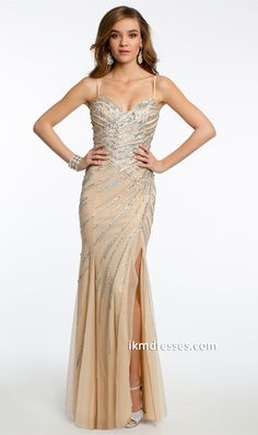 http://www.ikmdresses.com/Sequin-Beaded-Dress-with-Side-Slit-p87139