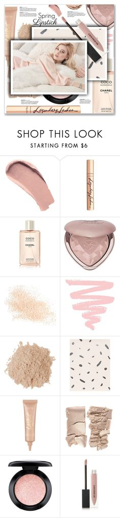 """""""Pucker Up: Spring Lips"""" by kellylynne68 ❤ liked on Polyvore featuring beauty, Burberry, Charlotte Tilbury, Chanel, Too Faced Cosmetics, Eve Lom, tarte, MAC Cosmetics and Christian Dior"""
