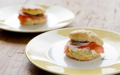 Herb Biscuits with Smoked Salmon and Creamy Chive Spread