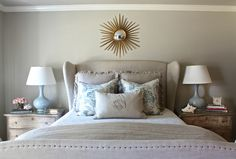 Holly Mathis Interiors: Young Houston family's home-- side tables--need source