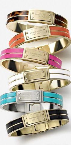 Colored Stacking Bracelets  - Michael Kors