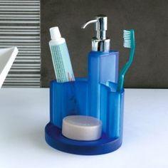3 IN 1 #bathroom #accessories #collection #design #ErvasBasilicoGirardi #dispenser + #tumbler + #soapholder #allinone #vetrilite #chrome #bathroomdesign