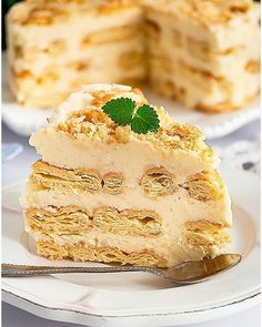 Ciasto napoleon bez pieczenia - I Love Bake Best Dessert Recipes, Fruit Recipes, Apple Recipes, Smoothie Recipes, Gourmet Recipes, Cake Recipes, Snack Recipes, Napoleons Recipe, Dessert For Dinner