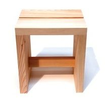 Hinoki Sauna Stool: I love this stool. Perfect harmony of form and function. Made of Hinoki ( an aromatic cypress) and finely sanded.